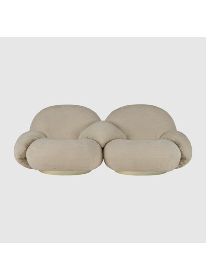 Pacha Sofa - Fully Upholstered, 2-seater with armrests incl. middle armrest