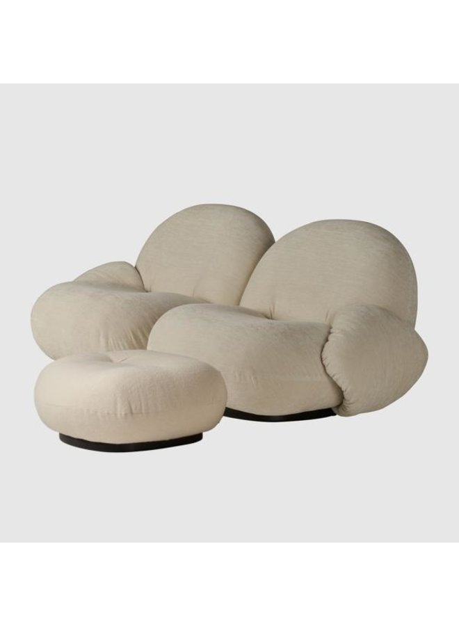 Pacha Sofa - Fully Upholstered, 2-seater with armrests and ottoman