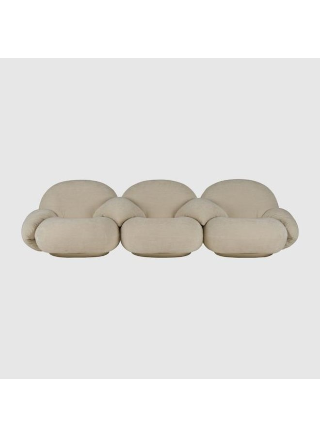 Pacha Sofa - Fully Upholstered, 3-seater with armrests incl. middle armrest