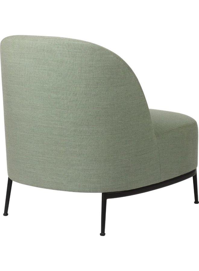Sejour Lounge Chair - Fully Upholstered, Black Semi Matt Base