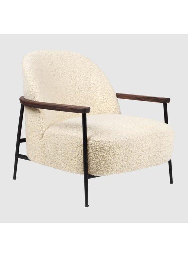 Sejour Lounge Chair - Fully Upholstered, With armrests, Black Matt Base