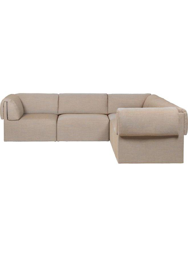 Wonder Corner Sofa - Fully Upholstered, 2 x 3-seater, 280x280