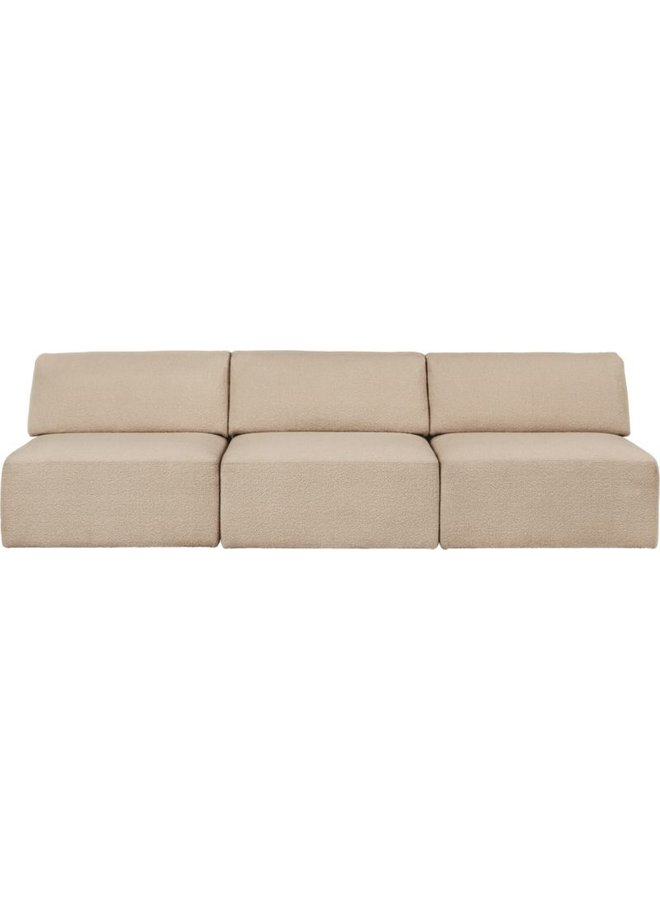 Wonder Sofa - Fully Upholstered, 3-seater without armrests, 270x95