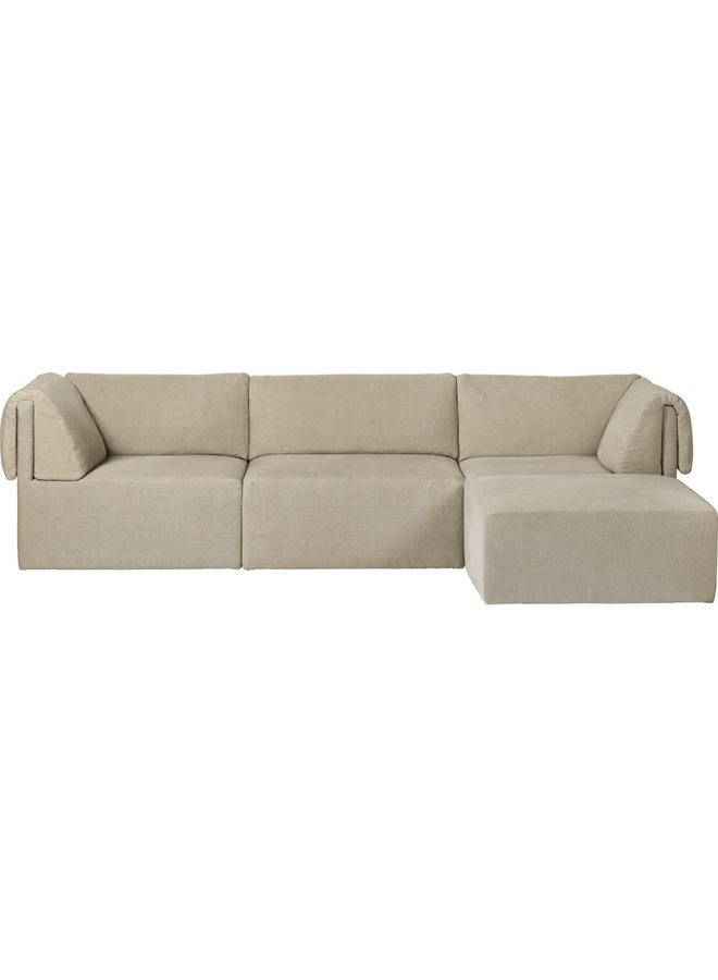 Wonder Sofa - Fully Upholstered, 3-seater with Chaise Longue, 280x185