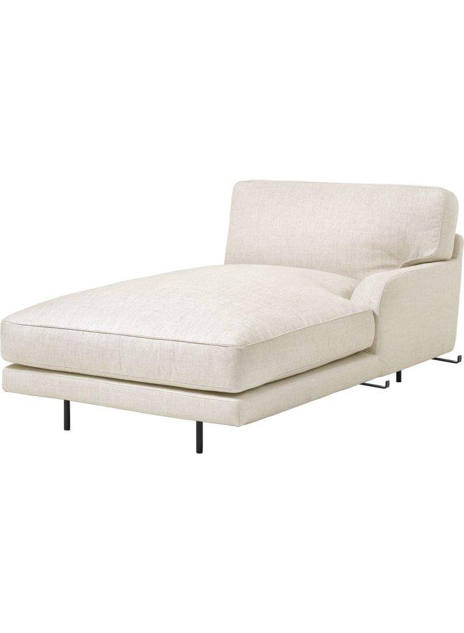 Flaneur Module - Fully Upholstered, Chaise Longue with left armrest, Black Matt Base