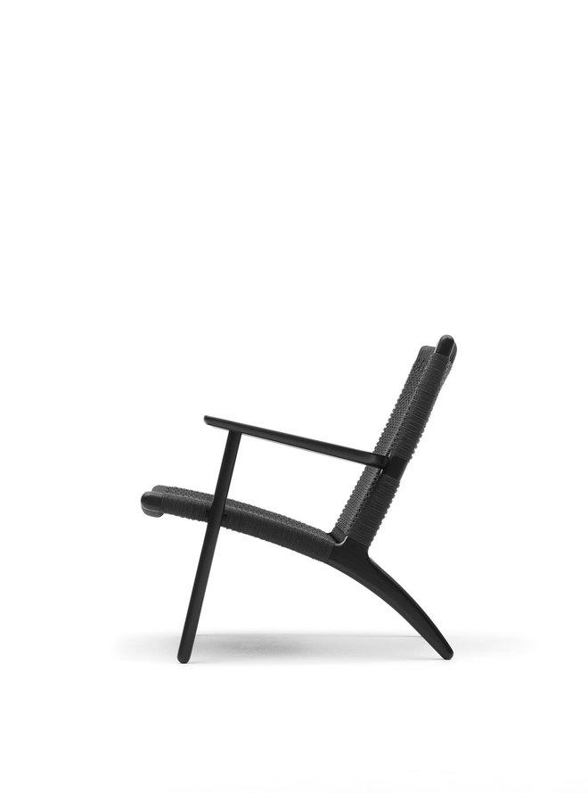 CH25 Lounge Chair Black Cord