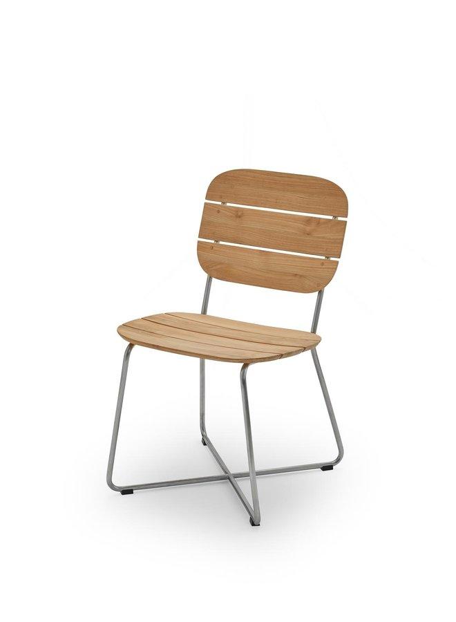 Lilium Chair, Teak|Stainless Steel