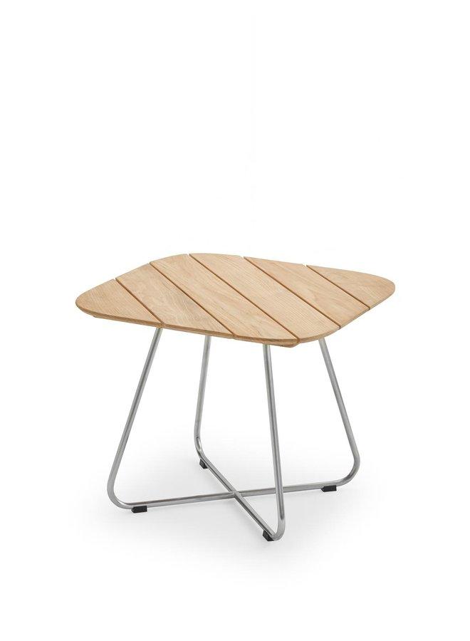 Lilium Lounge Table Teak|Stainless Steel