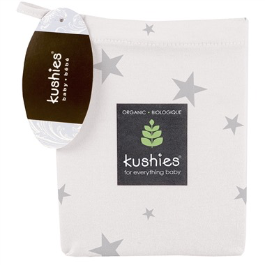 Kushies Organic Cotton Jersey Fitted Change Pad Cover w/ slits