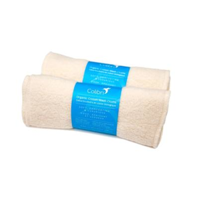 Colibri Organic Cotton Sherpa Washcloths