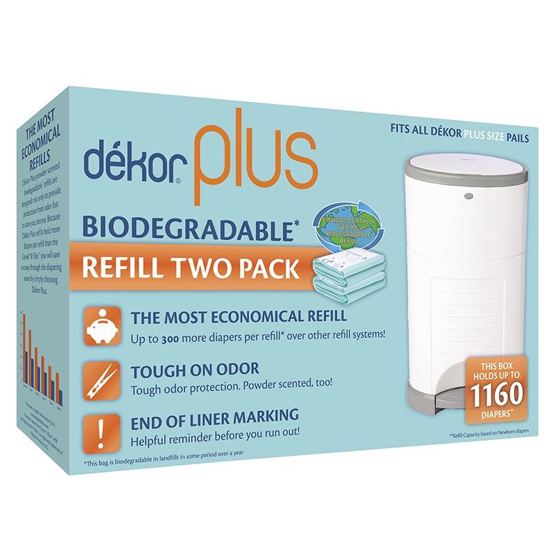 Diaper Dekor Plus Refill 2-pack