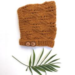 Nooks Nooks Hand-Knit Merino Wool Bonnet