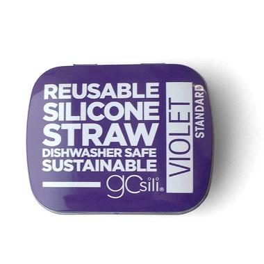 Silikids Single Silicone Straw in Tin