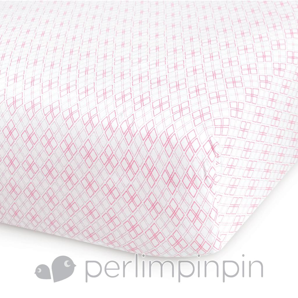 Perlimpinpin Perlimpinpin-Jersey Knit Crib Sheet-Diamonds