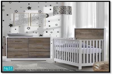 Nest Juvenile Vibe Convertible Crib
