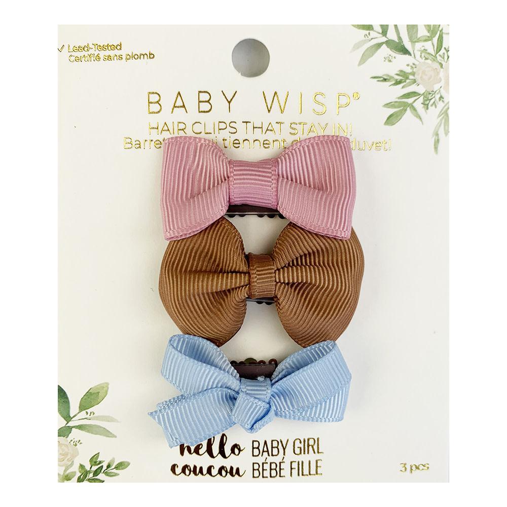 Baby Wisp Baby Wisp Mini Latch Bow Set 3pk