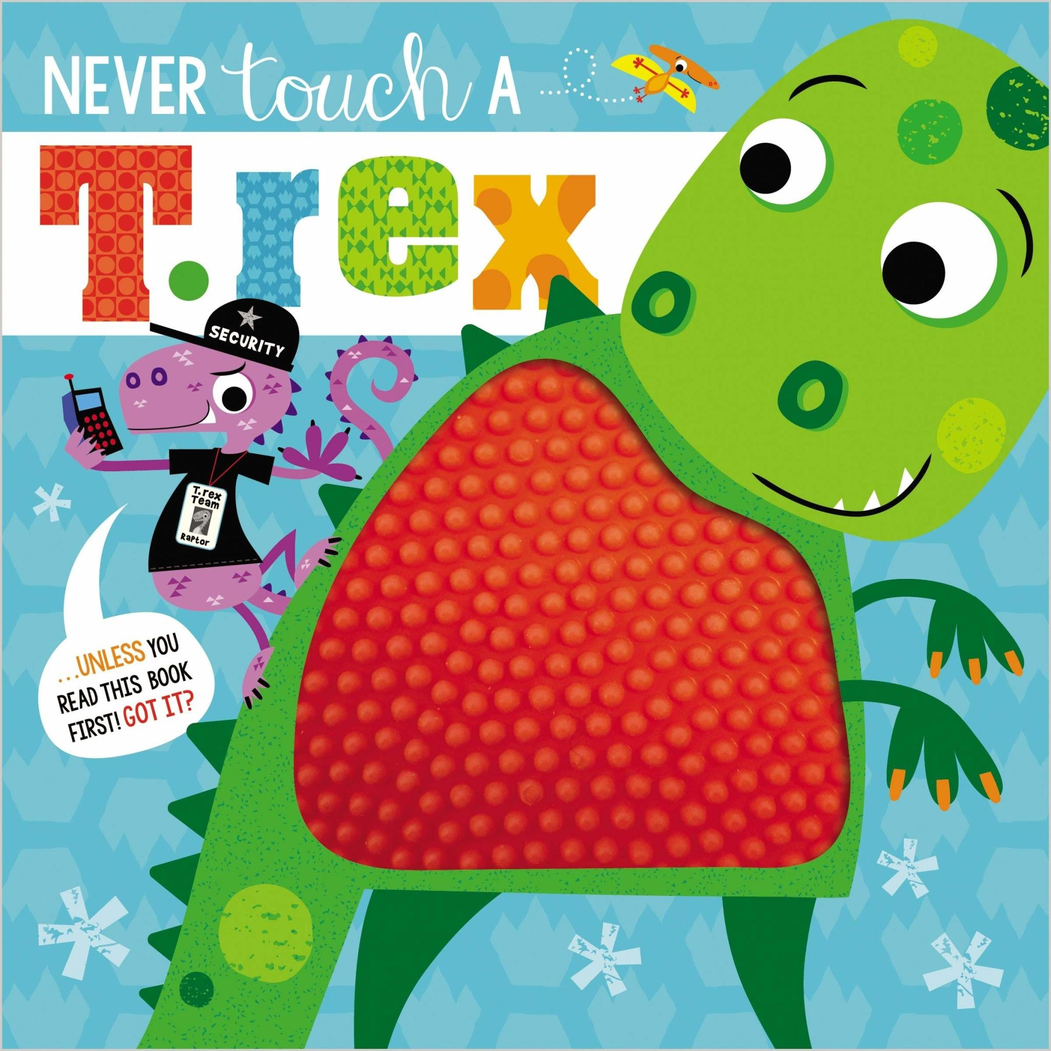 Fire the Imagination Never Touch A T-Rex Board Book