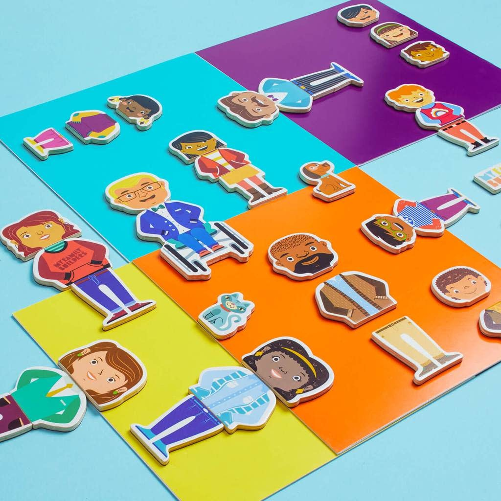 Fire the Imagination My Family Builders - Mix & Match Magnetic Wooden Shapes