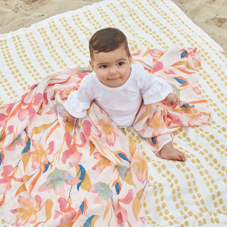 Aden & Anais Aden & Anais White Label Silky Soft Swaddles 3 pk.