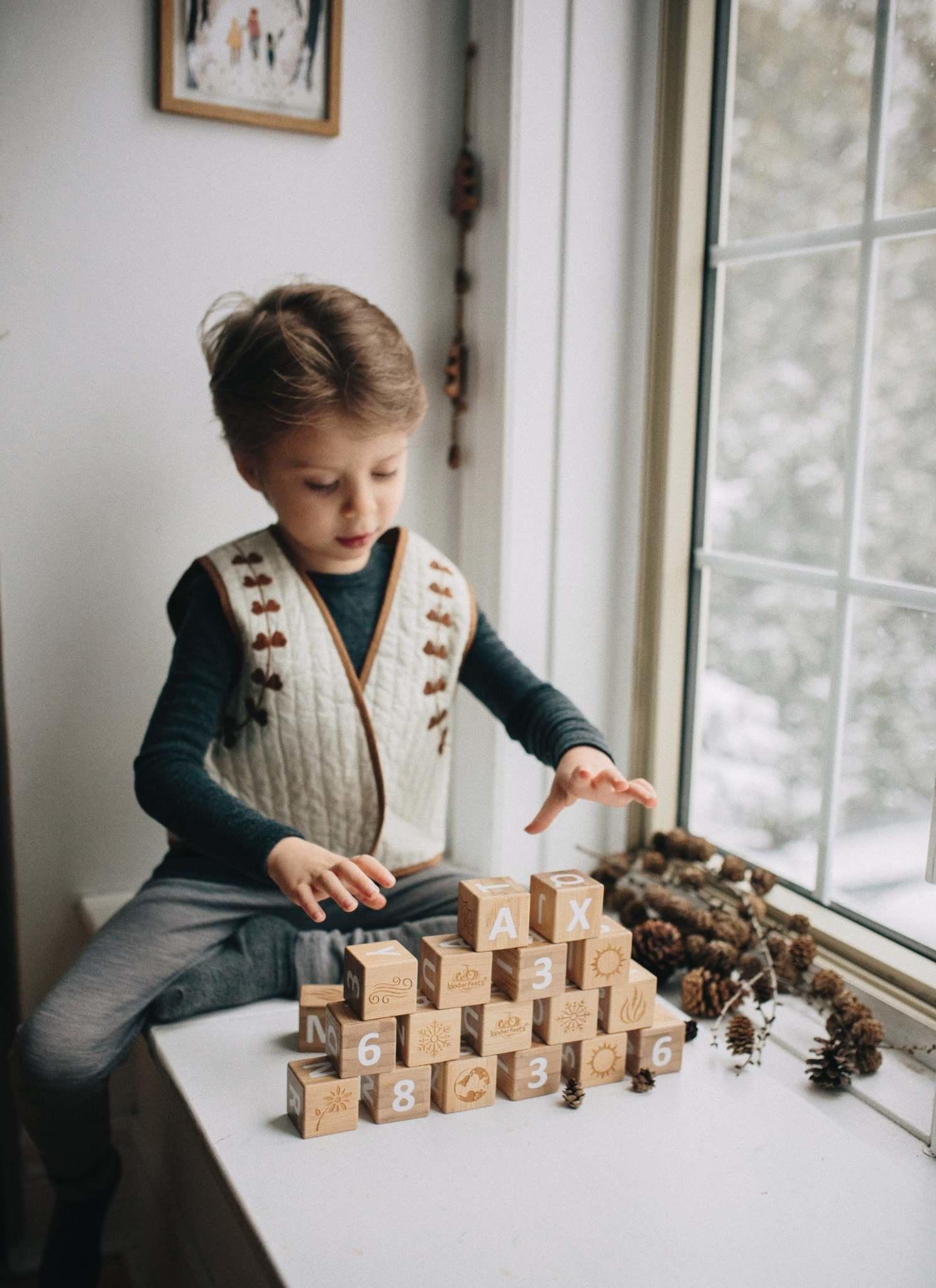 Kinderfeets ABC Bamboo Blocks