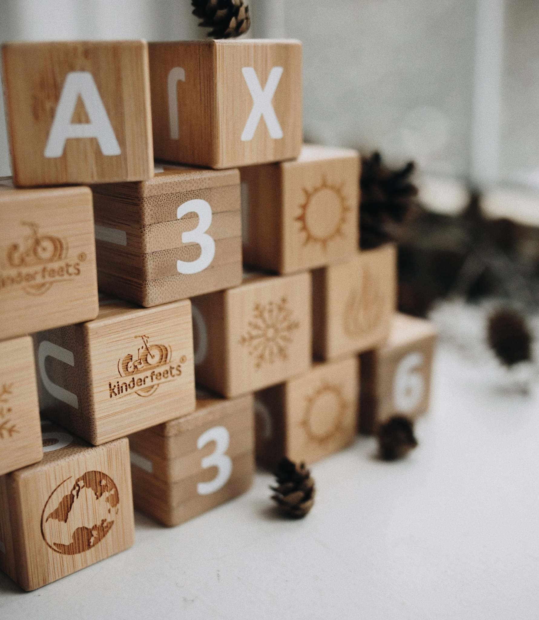 Kinderfeets Kinderfeets ABC Bamboo Blocks