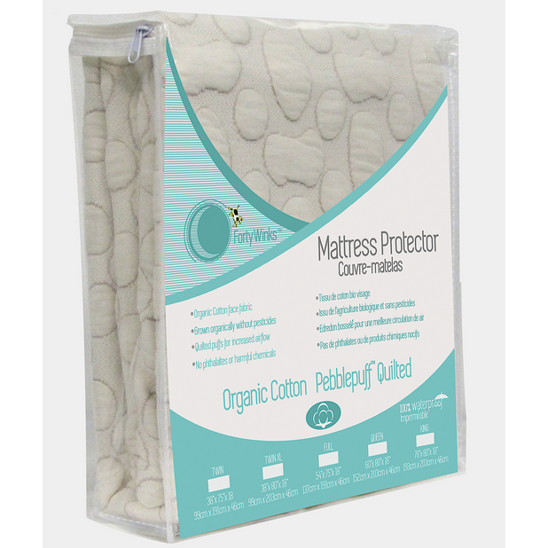 Guzzie+Cuss Forty Winks Pebble-Puff Quilted Mattress Protector
