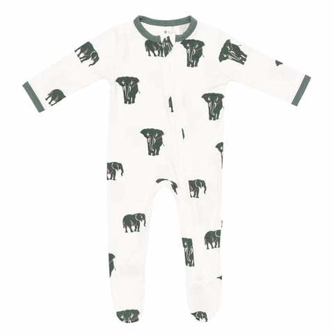 Kyte Baby Kyte Baby Zippered Footie - Elephant