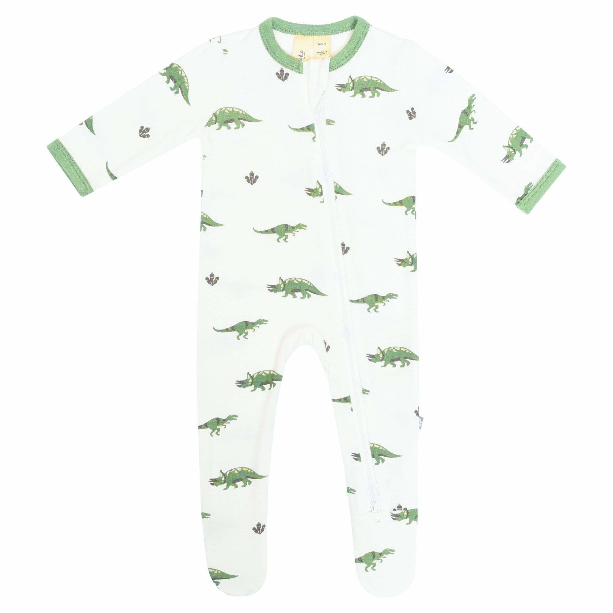 Kyte Baby Kyte Baby Zippered Footie - Dino