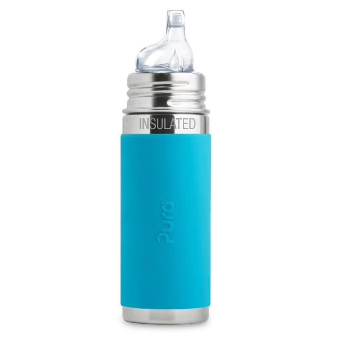 Pura Kiki Insulated Sippy Bottle w/ Sleeve 260 ml.