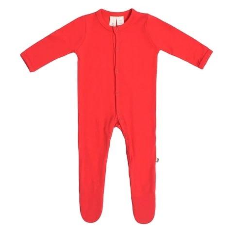 Kyte Baby Snaps Footie - Crimson