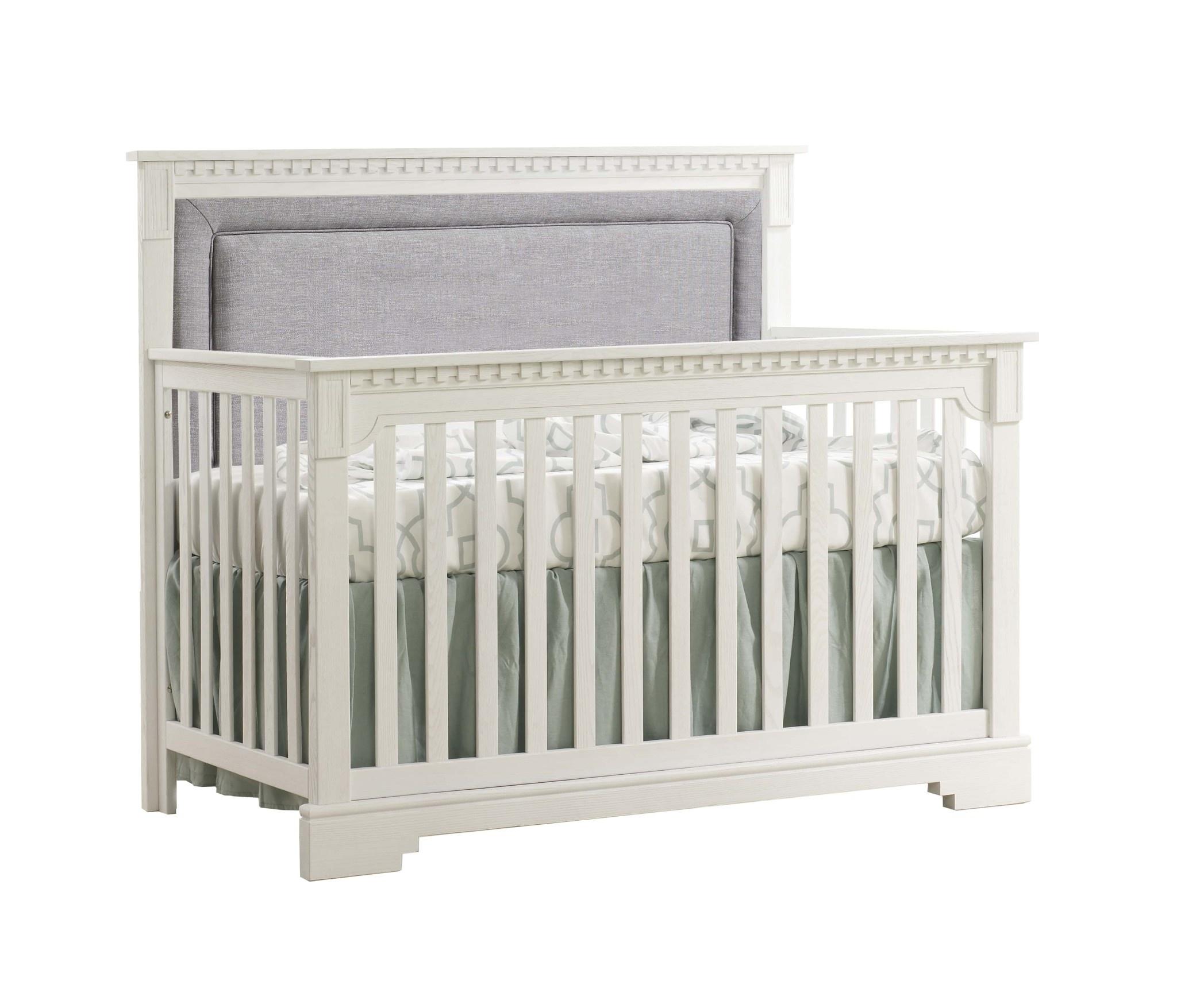 Natart Juvenile Ithaca Convertible Crib w/ Upholstered Panel