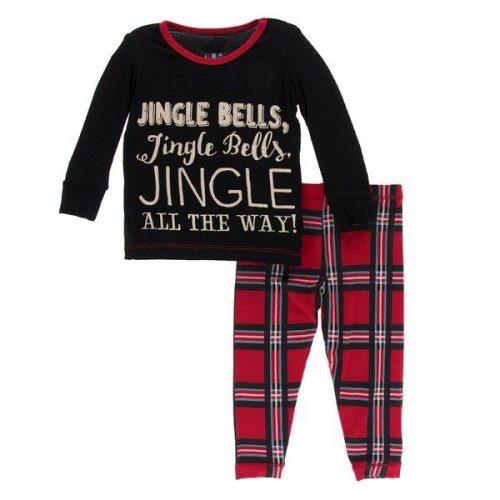 Kickee Pants Holiday LS Pajama Set Jingle Bells 18-24