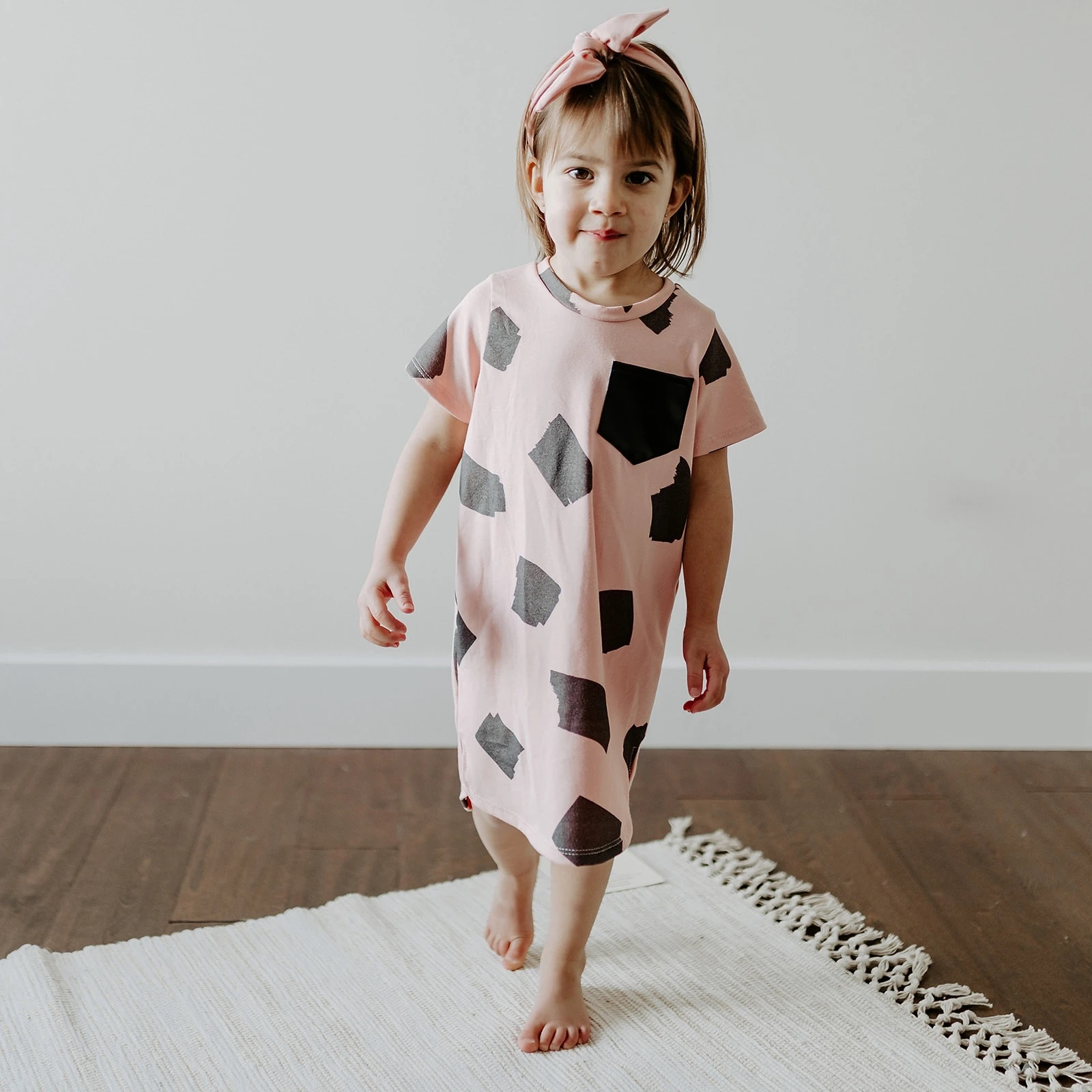 Posh and Cozy Pocket Dress - Strawberry Sprinkle