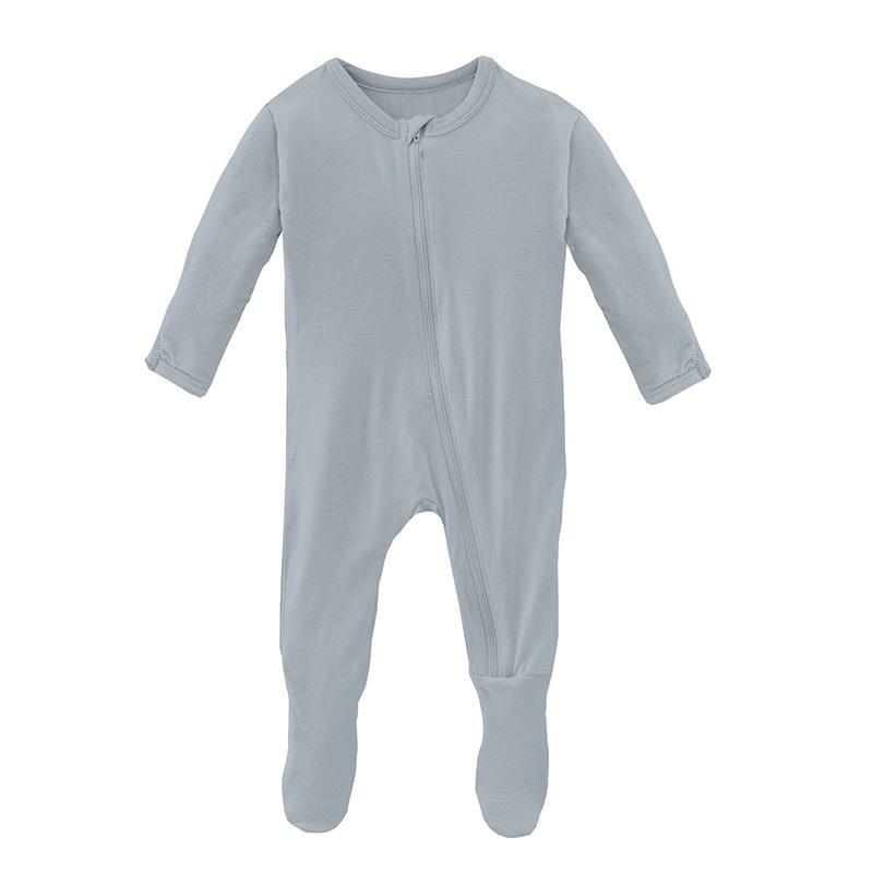 Kickee Pants Pearl Blue Footie w/ zipper