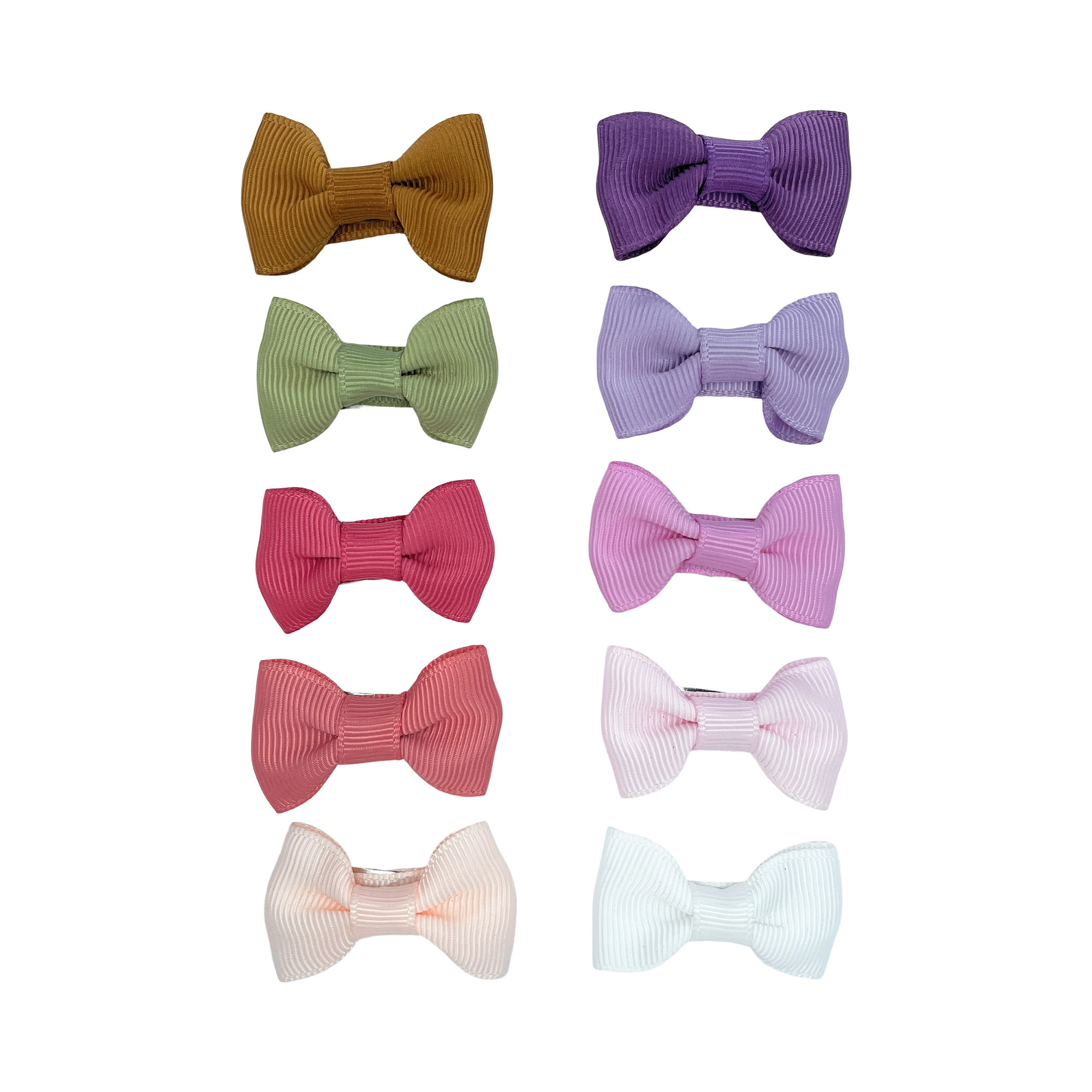 Baby Wisp Charlotte Bow Snap Clips 10pk