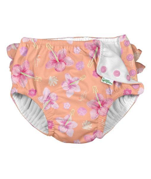 iPlay Coral Hibiscus Swim Diaper
