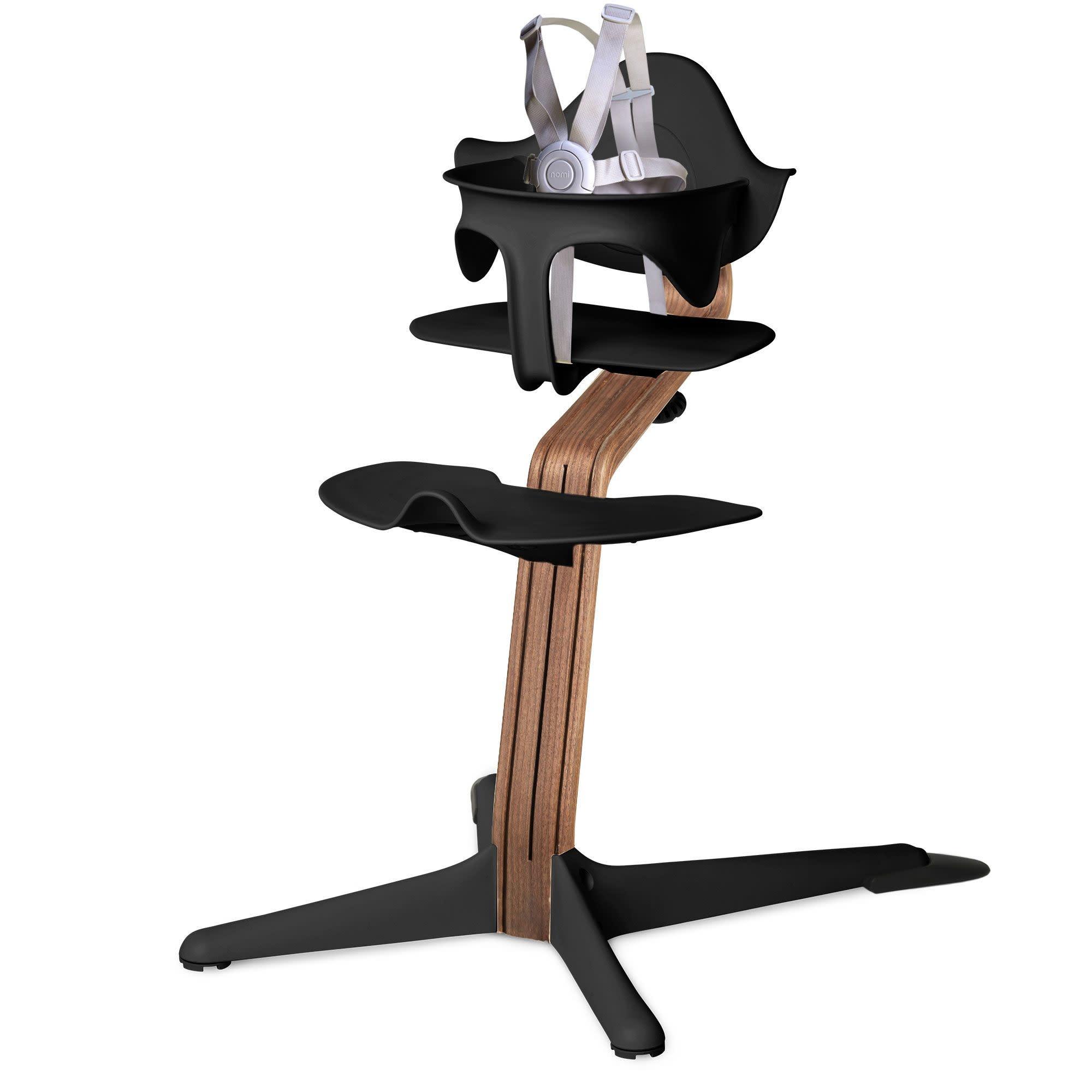 Nomi High Chair w/ Walnut Stem -  Black