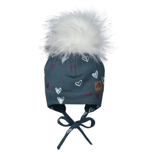 Perlimpinpin Hearts Hat w/ Pompom