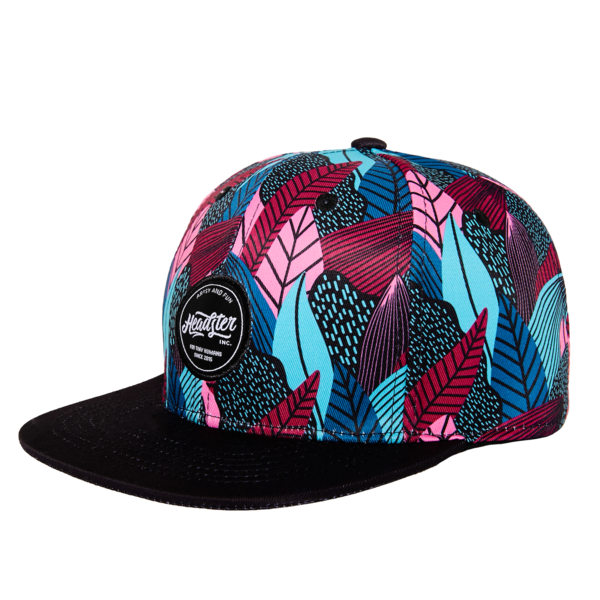 Headster Hat - Fine Foliage Pink