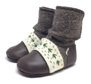 Nooks Embroidered Wool Booties Carmanah 0-6 mos.