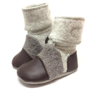 Nooks Felted Wool Booties - Driftwood
