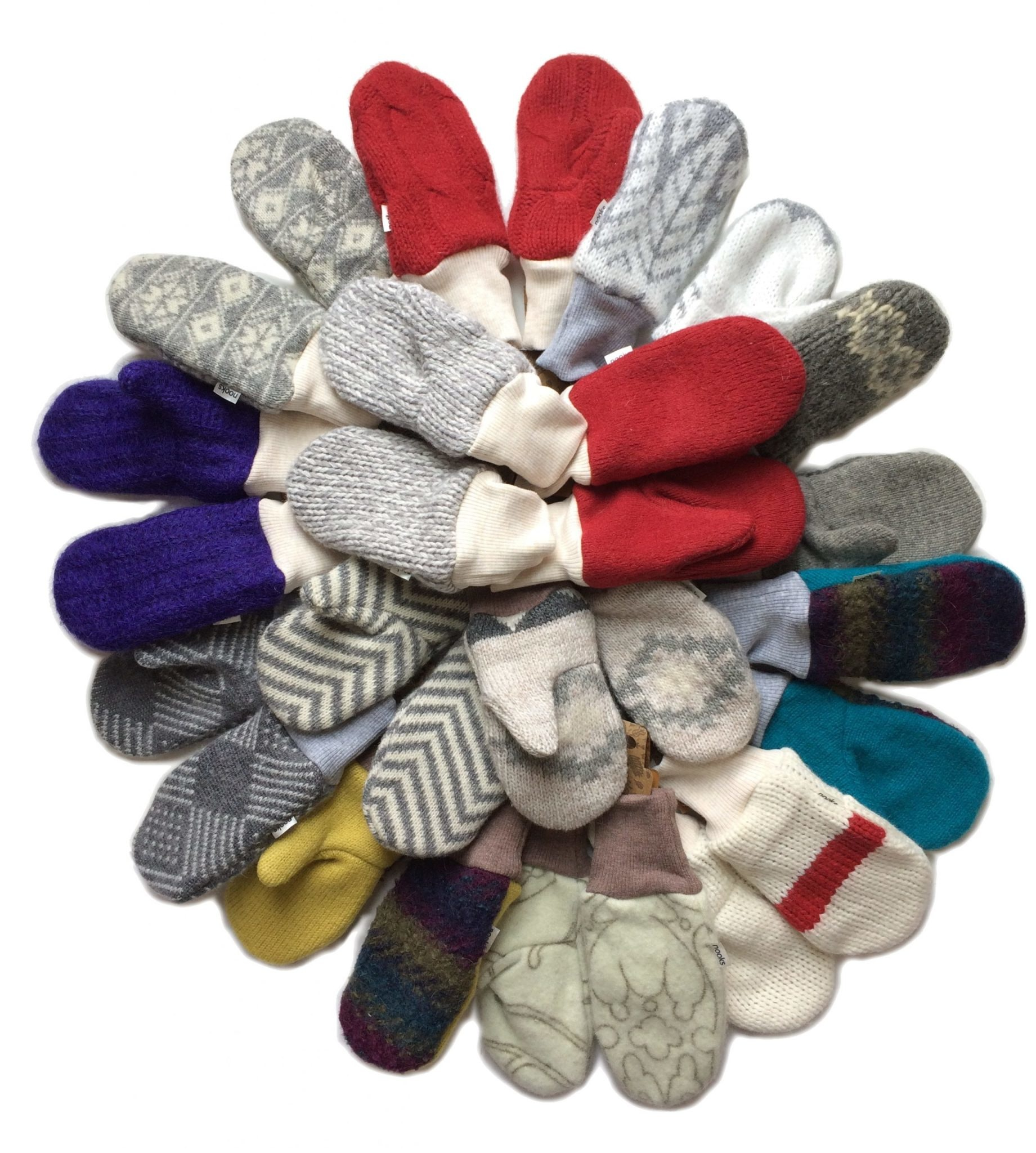 Nooks Upcycled Wool Mittens - 2-4T