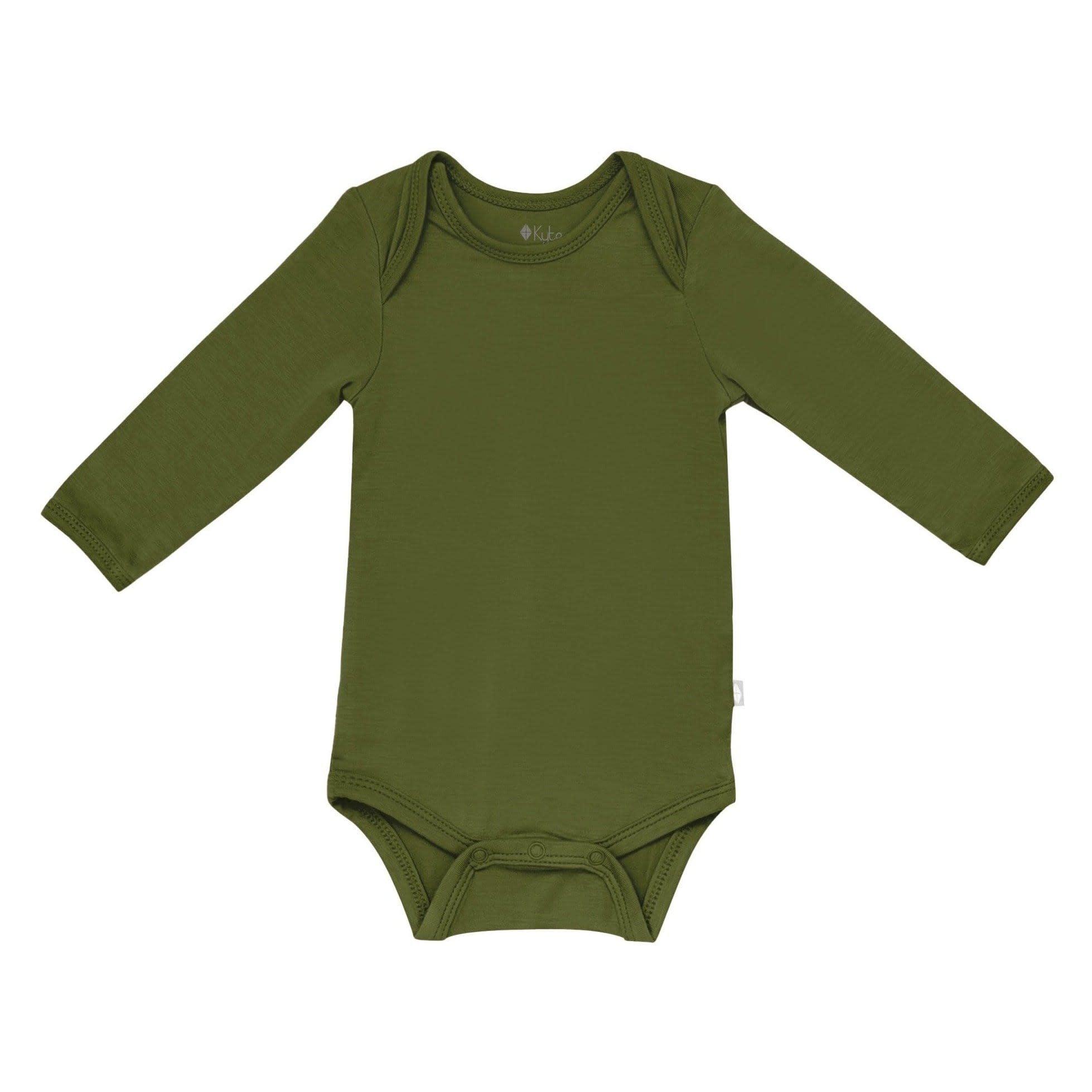 Kyte Baby Long Sleeve Bodysuit - Olive