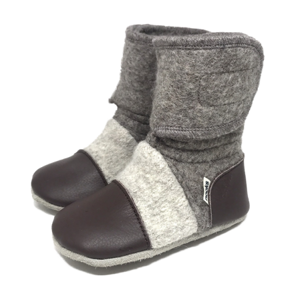 Nooks Felted Wool Booties - Coco