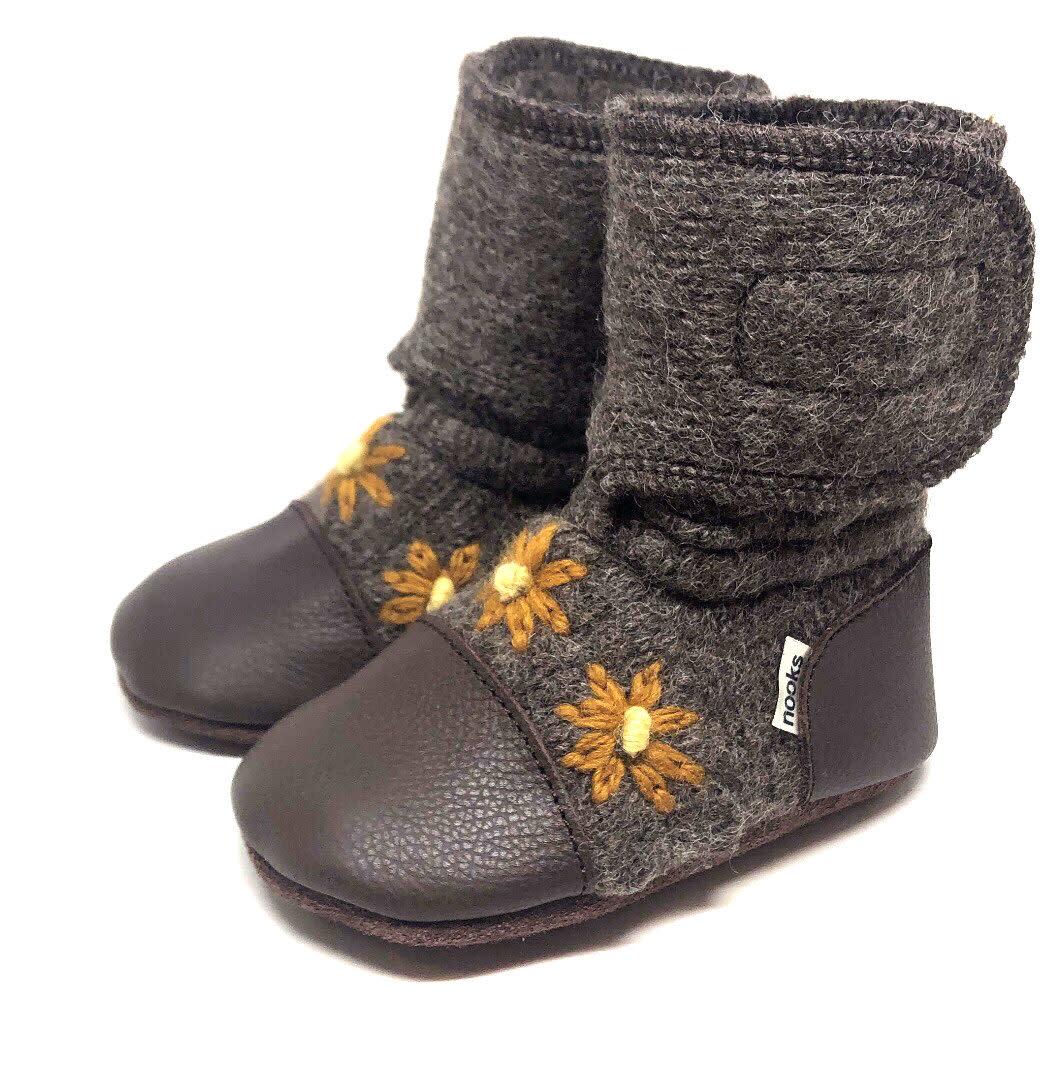 Nooks Felted Wool Booties - Sunflower