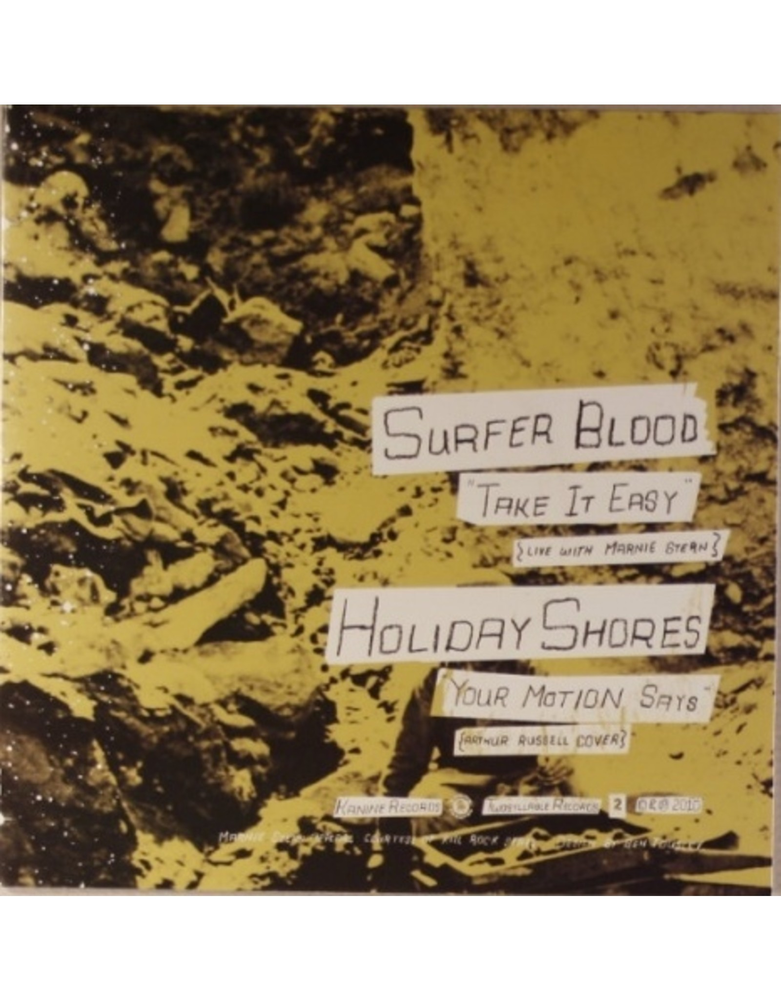 New Vinyl Surfer Blood/Holiday Shores - Split 7""