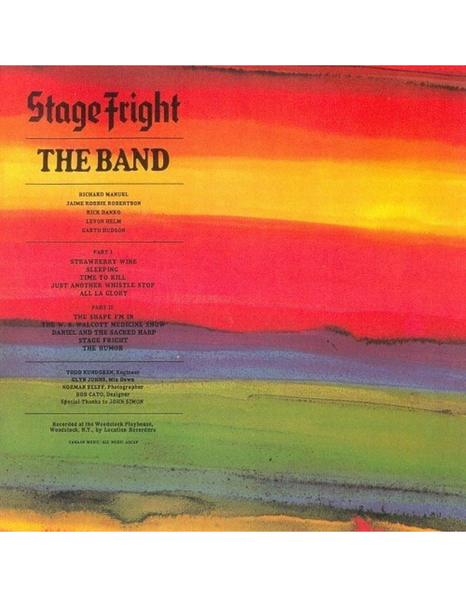 New Vinyl The Band - Stage Fright LP