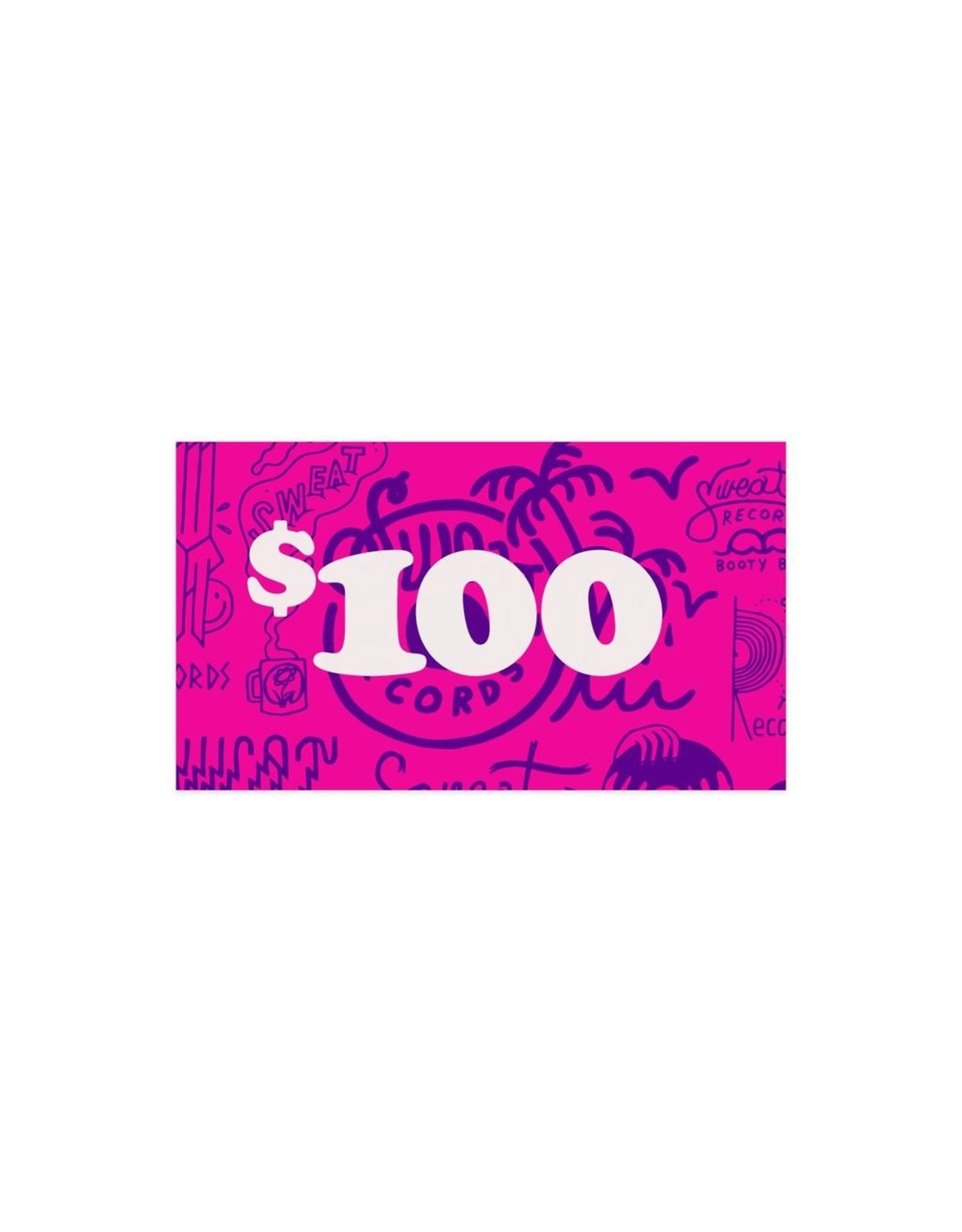 Gift Card $100 Sweat Records In-Store Gift Card