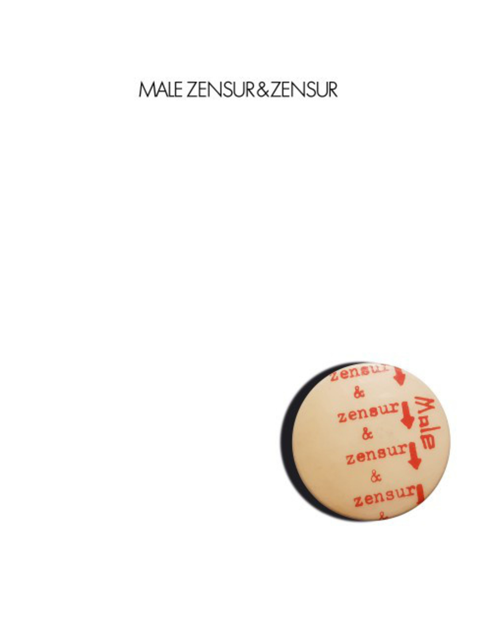 New Vinyl Male - Zensur & Zensur 2LP