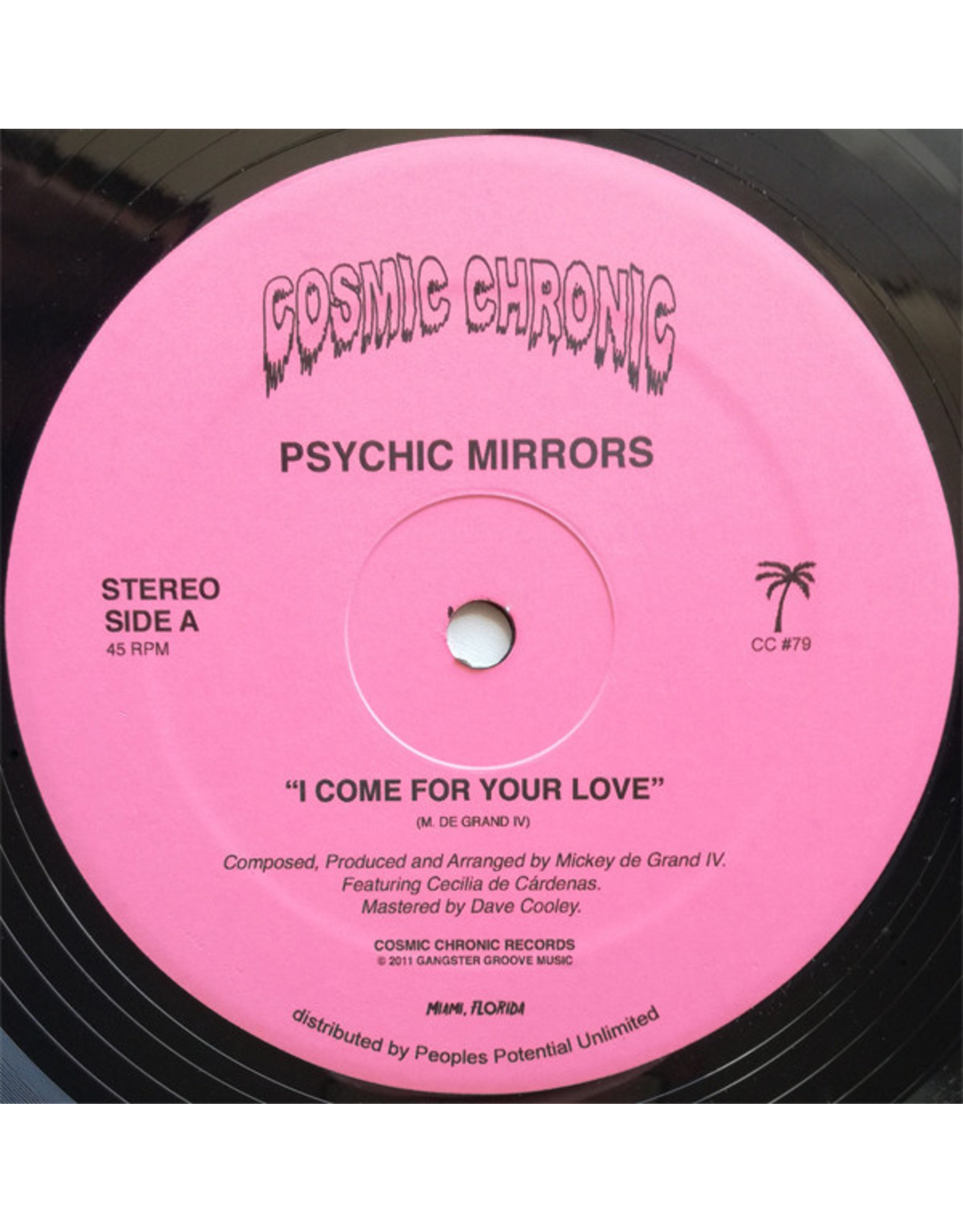 """New Vinyl Psychic Mirrors - I Come For Your Love 12"""""""